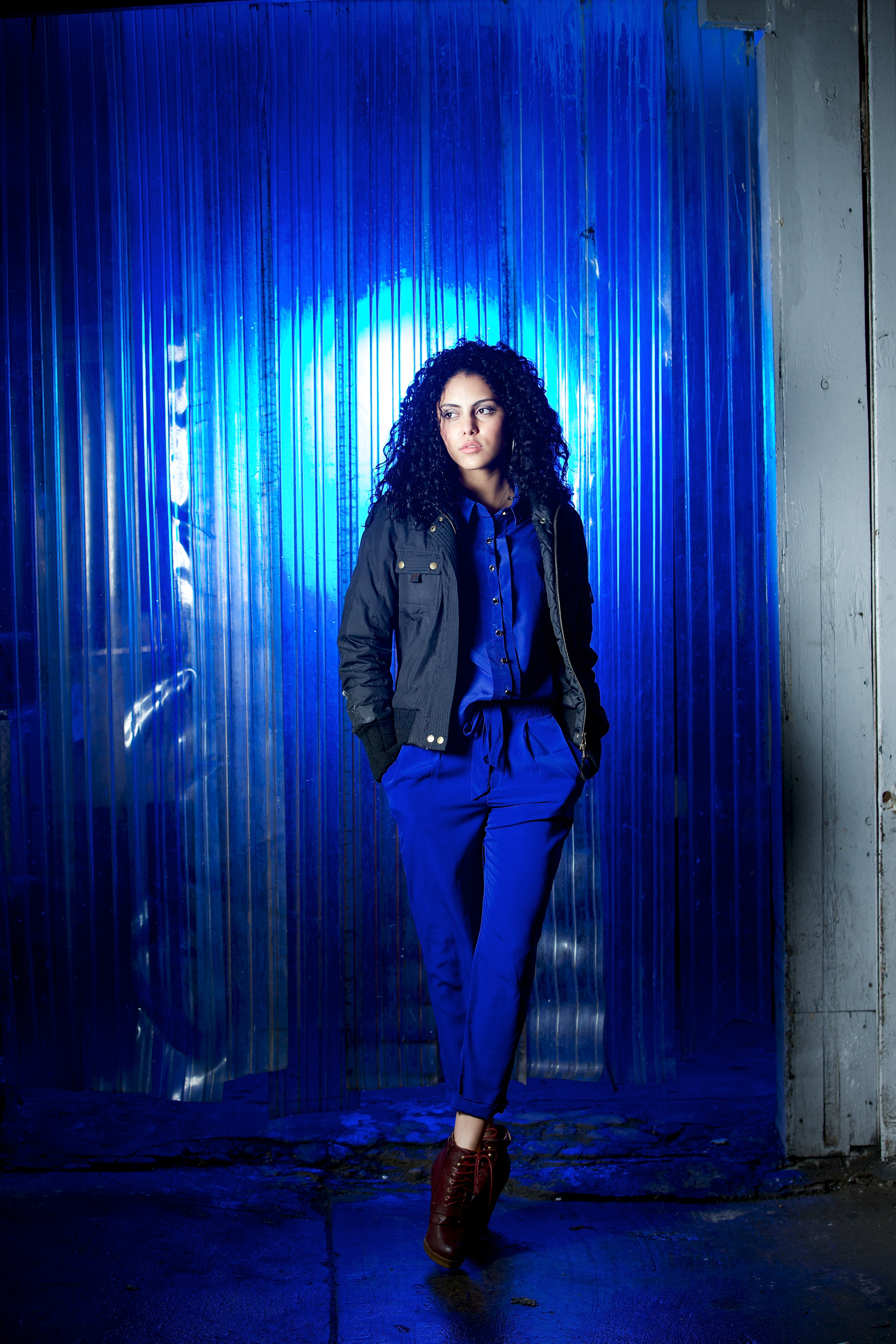 Model Portrait Using Westcott Perfect Pair Kit and Blue Gels #1