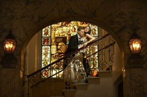 029s 300x199 Elegant Bridal Portrait on a Staircase