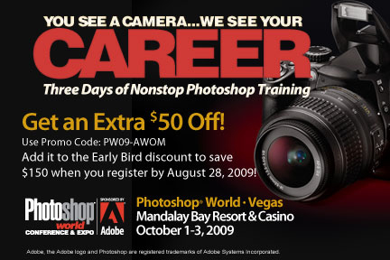 pswad432x2881 Save up to $150 at PhotoShop World Las Vegas