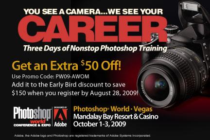 pswad432x2881 Save up to $150 at PhotoShop World Las Vegas