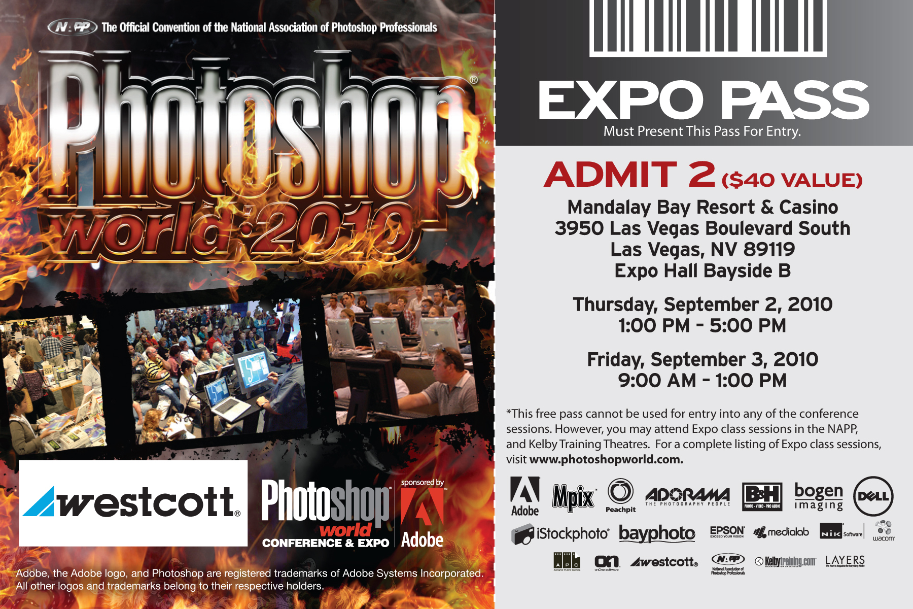 Exhibitor Free Pass Westcott Photo Shootout at PSW Vegas!