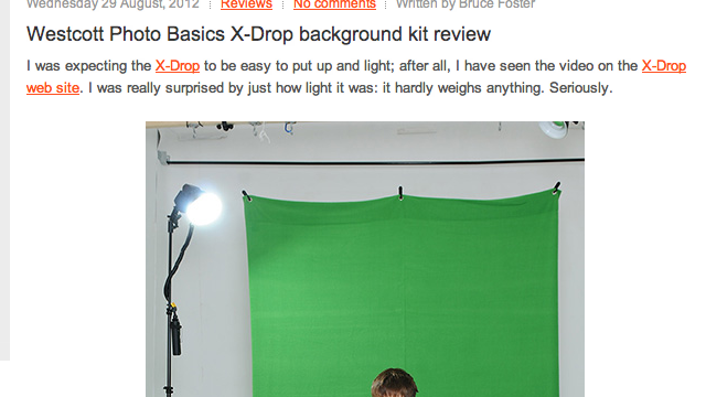Lighting Rumours: X-Drop Backdrop Review