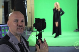 Dave Cross Creates Fun Comic Art Using Green Screen