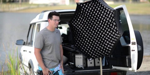 Top Pro Chris Garrison uses Apollo Orb and Scrim Jims for Lifestyle Photoshoot