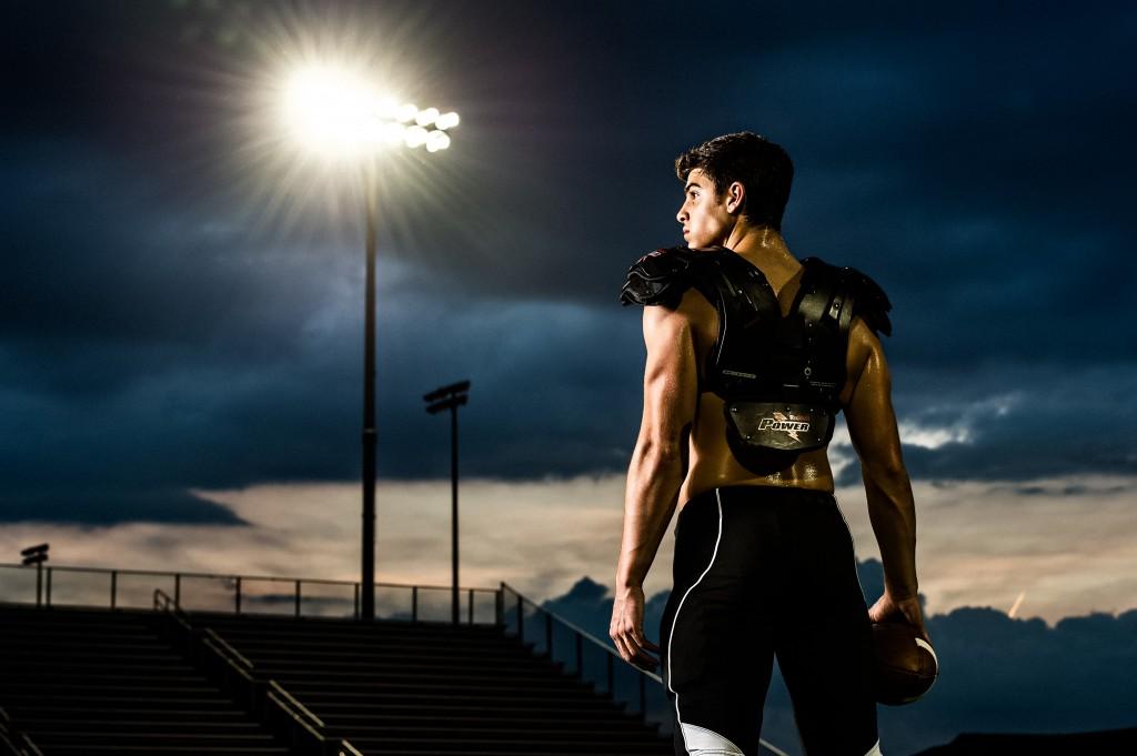 Football Player Portrait by Matt Hernandez