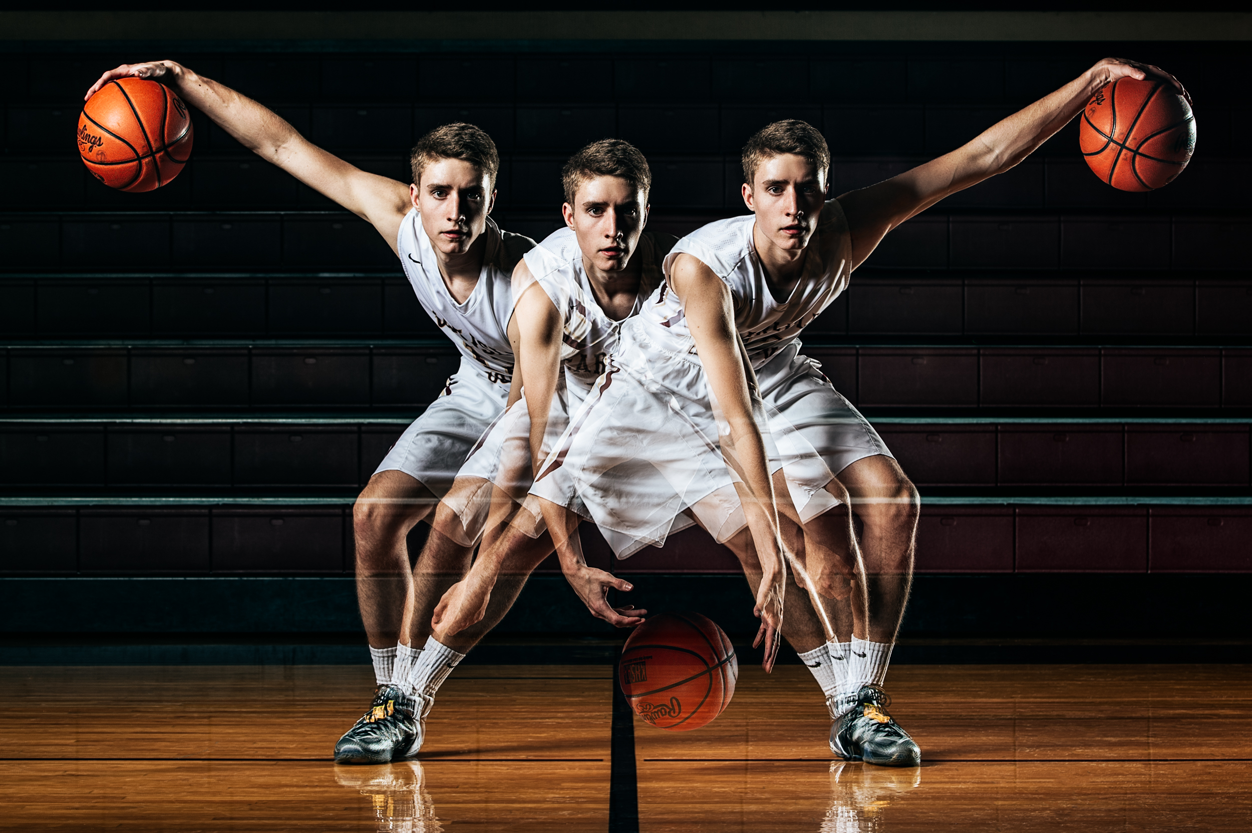 Noah Norsworthy, Jordan Kellett, & Paxton Crider Basketball Senior Pictures in Carlisle Co.