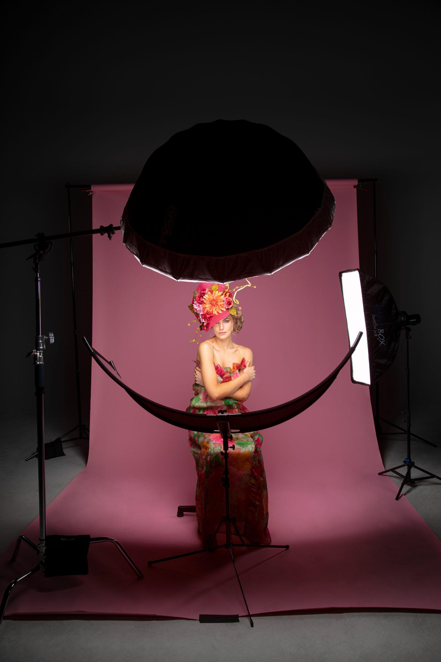 BTS of 43 Inch Umbrella, edge light and Eyelighter