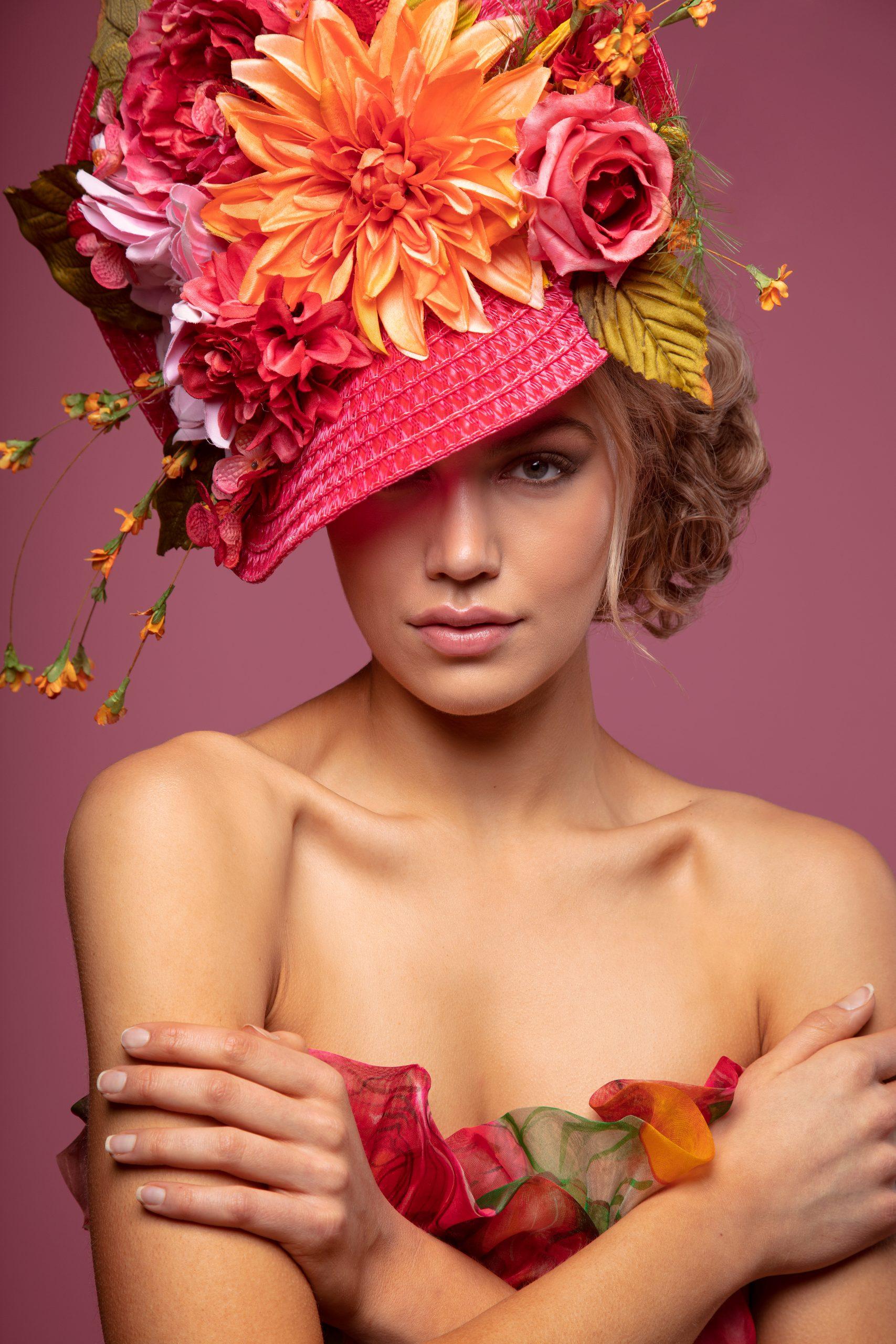 Beauty Headshot with 43 Inch Umbrella, edge light and Eyelighter