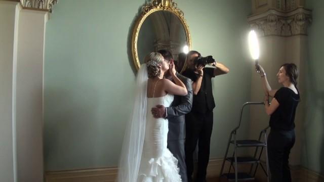 Ice Light for Wedding Portraits