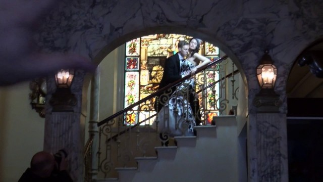 Elegant Bridal Portrait on a Staircase
