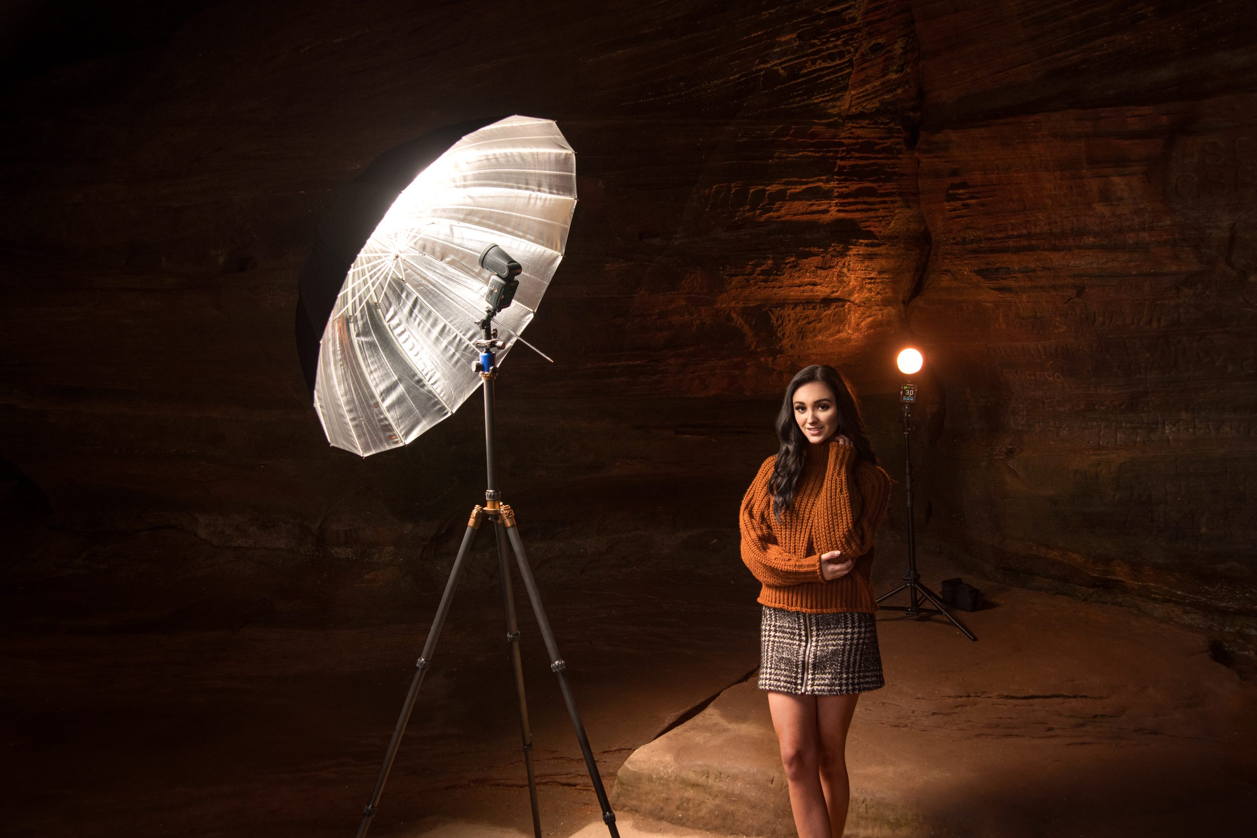Behind the scenes of the portrait lighting set up