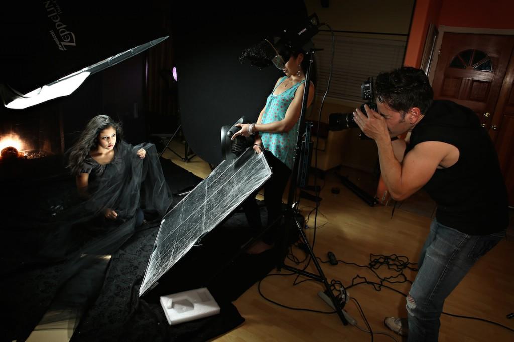 BTS shot 2 of Hernan Rodriguez with the Zeppelin