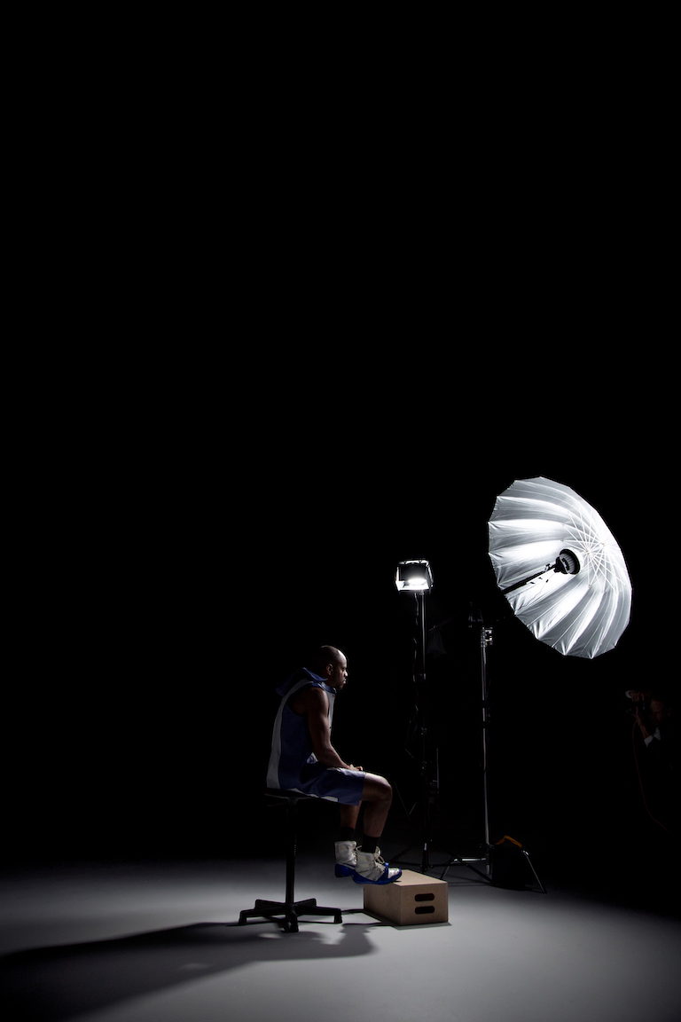 Photographing Athletes - Lighting Setup 2