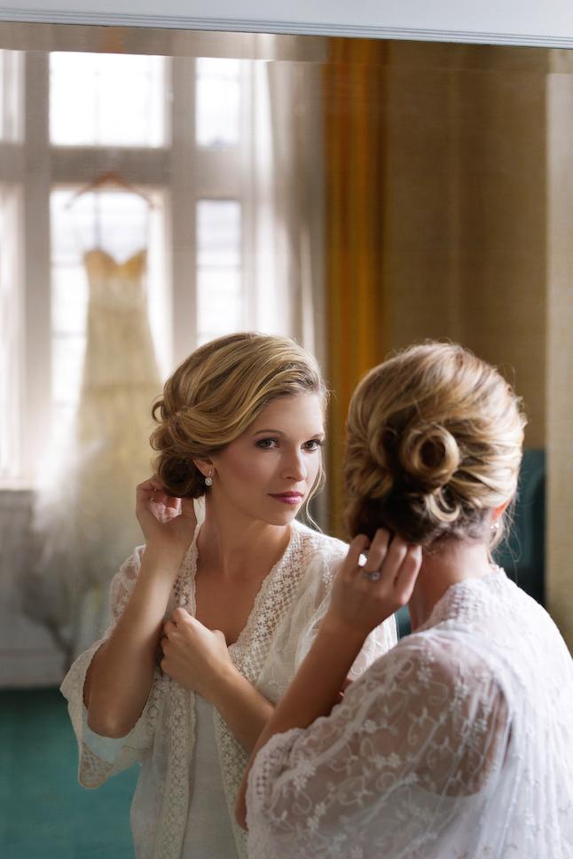 Bridal Prep Shot (After Portable Lighting)
