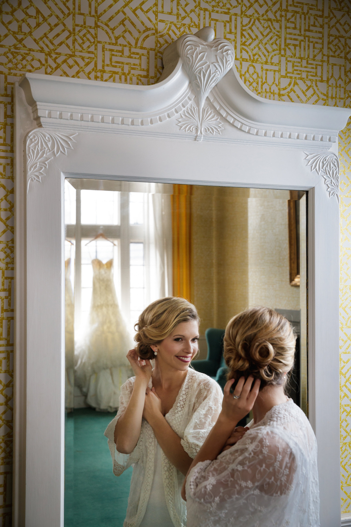 Bridal Prep Shot (After Portable Lighting)