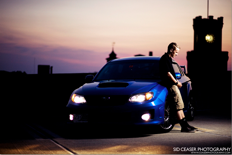 Carfinal Shooting a Nighttime Portrait with a Softbox