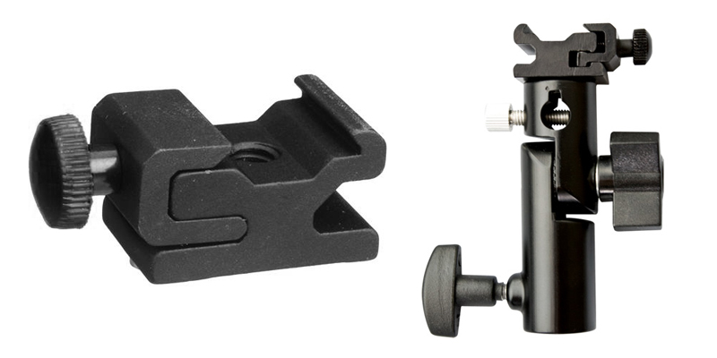 Cold shoe mounting bracket example