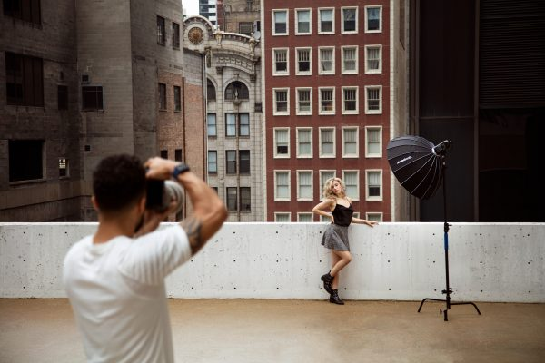 """BTS using the 200mm lens with the 36"""" Beauty Dish Switch by Manny Ortiz"""