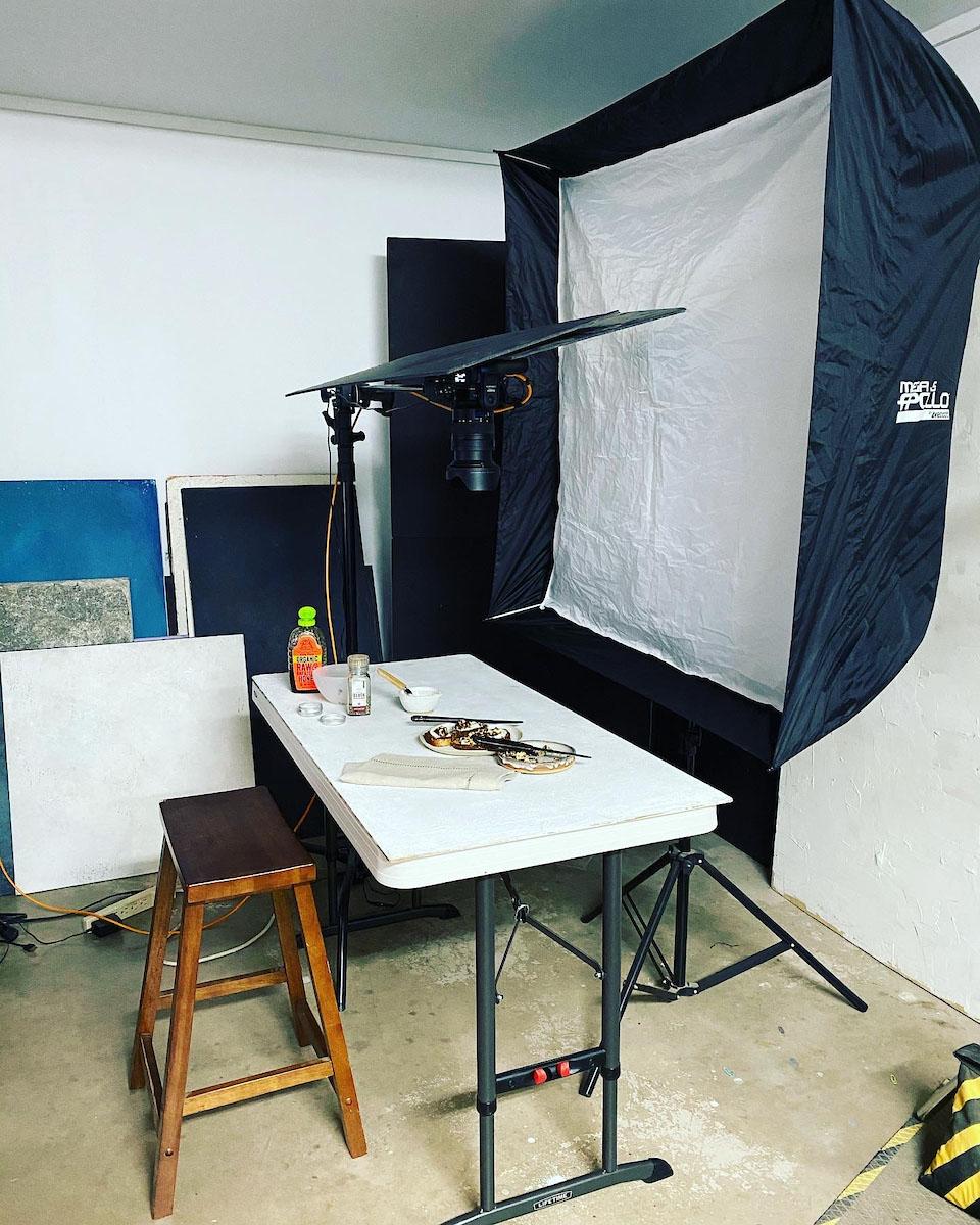 Behind the scenes set-up