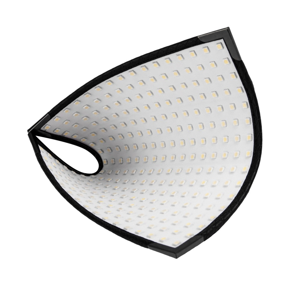 Demonstating the flexibility of the Westcott Flex LED Panel