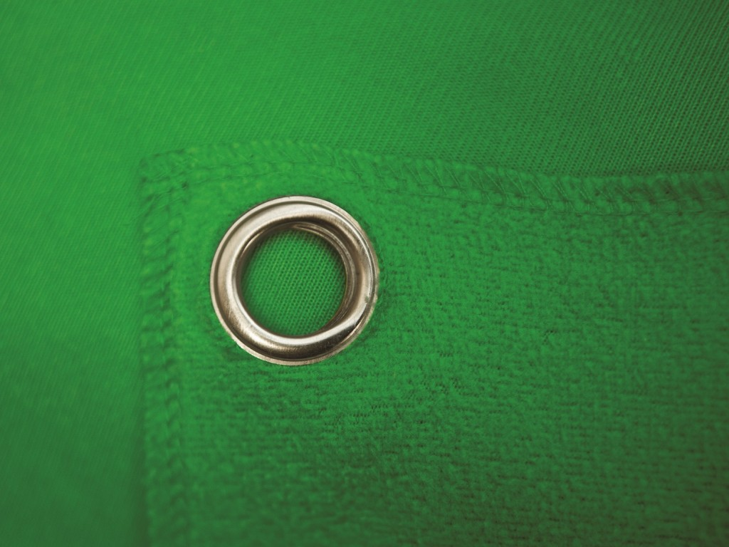 Green Detail Grommet 1024x768 Westcotts Wrinkle Resistant Green Screen Backdrop