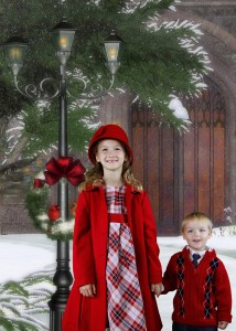 Holiday Photos with Green Screen 1 214x300 Holiday Photos with Green Screen Lighting Kit
