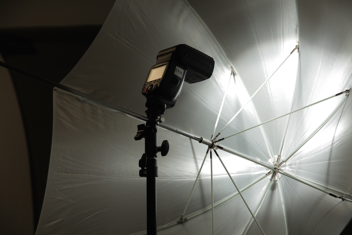 Light Mounted Close to Umbrella