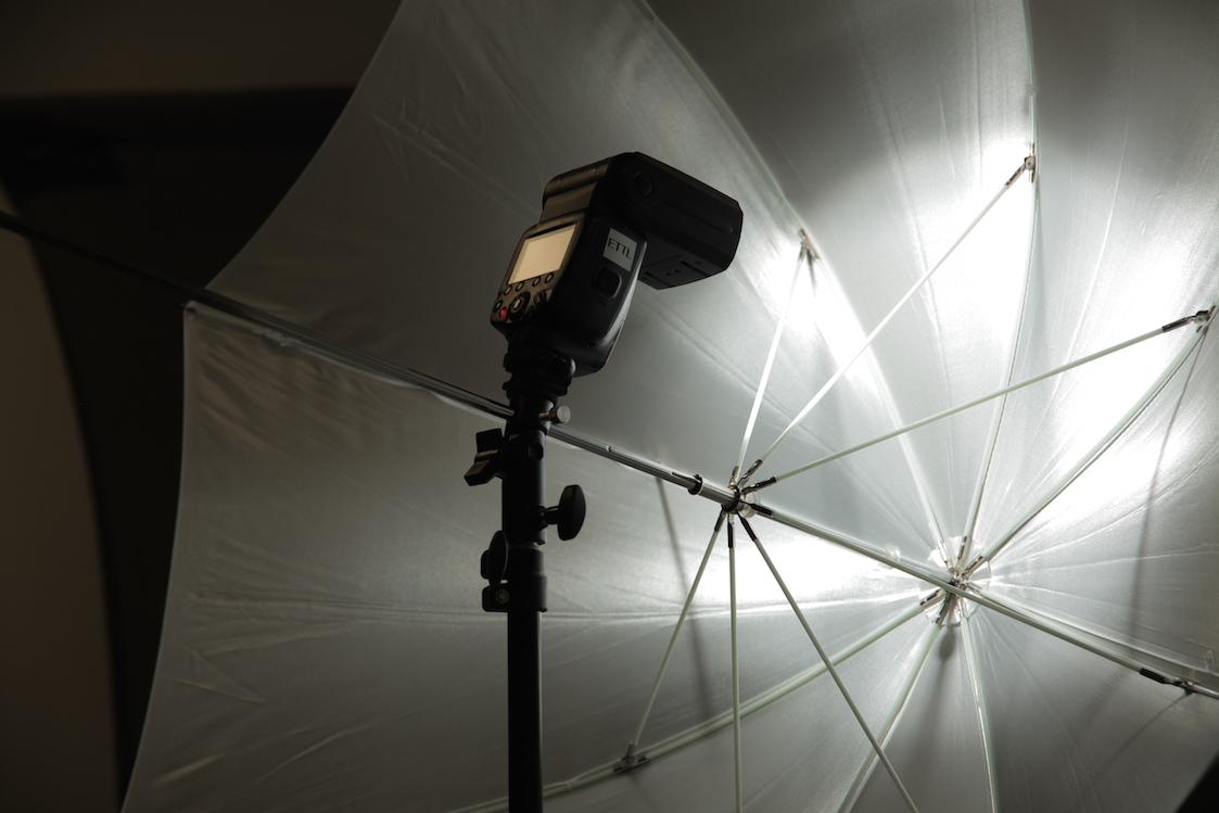 Light Mounted Close to Umbrella