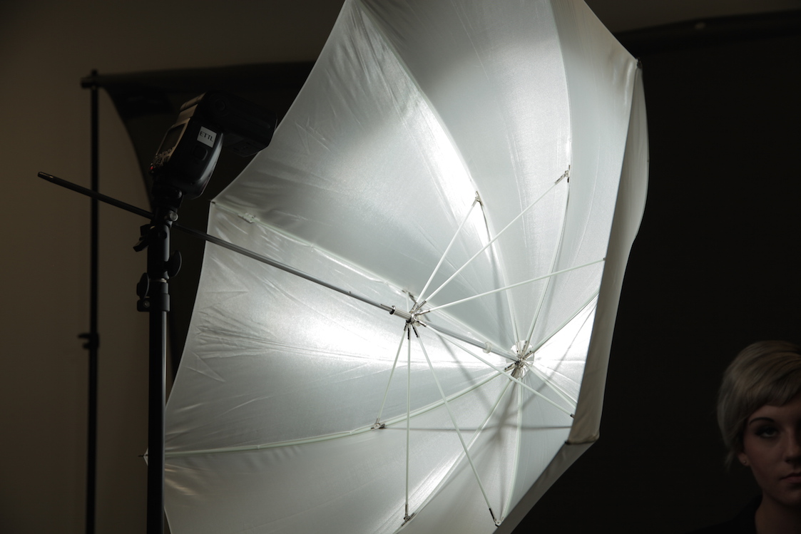 Light Mounted Further from the Umbrella