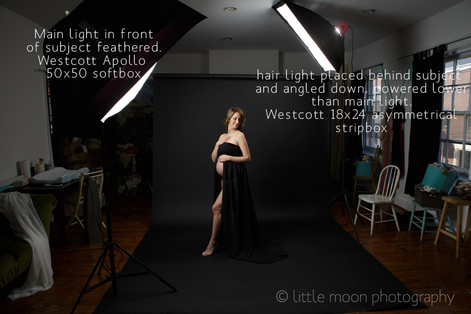 Maternity Shot Lighting Set-Up