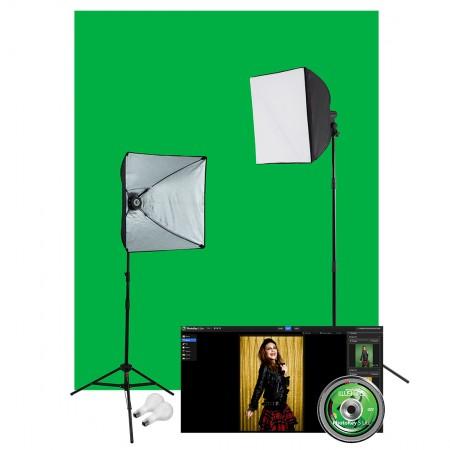 Westcott Photo Illusion Green Screen Photo Lighting Kit
