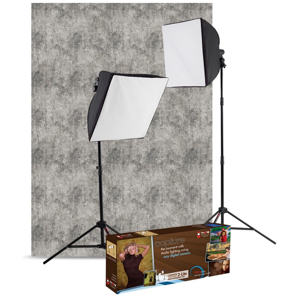 Westcott Basics uLite 2-Light Kit with Free Background