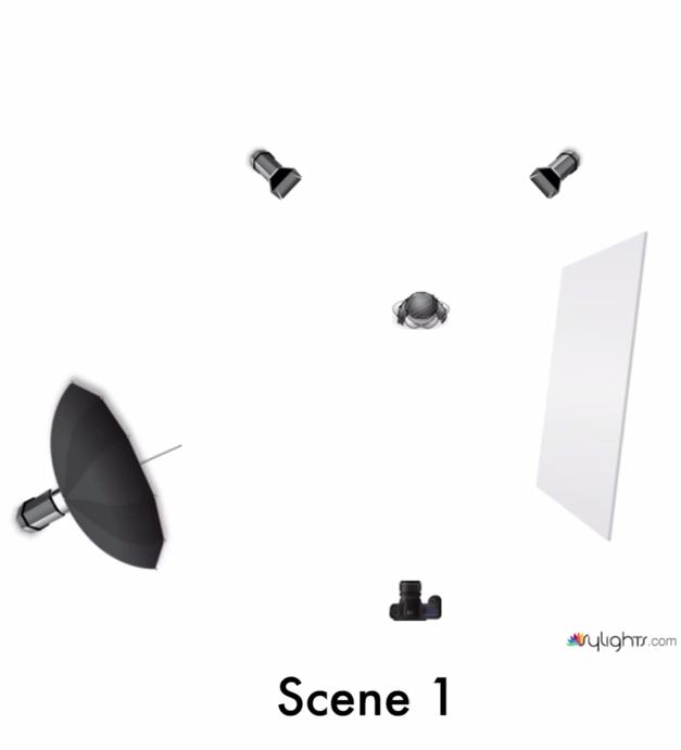 Light Set Up  - Scene 1