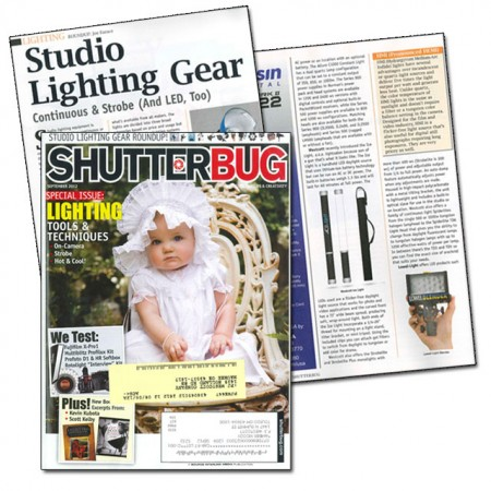 ShutterbugIceLight 450x450 Westcott Ice Light receive LED Lighting Gear Highlight in Shutterbug Magazine