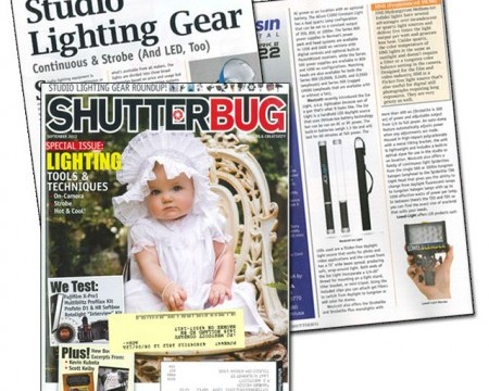 Westcott Ice Light receive LED Lighting Gear Highlight in Shutterbug Magazine