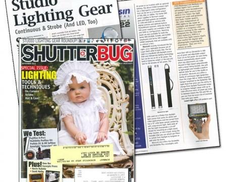 Westcott Ice Light receive LED Lighting Gear Highlight in Shutterbug Magazine