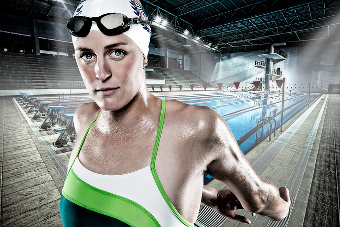 Swimmer Final Sports Composite Photography with Mark Johnson