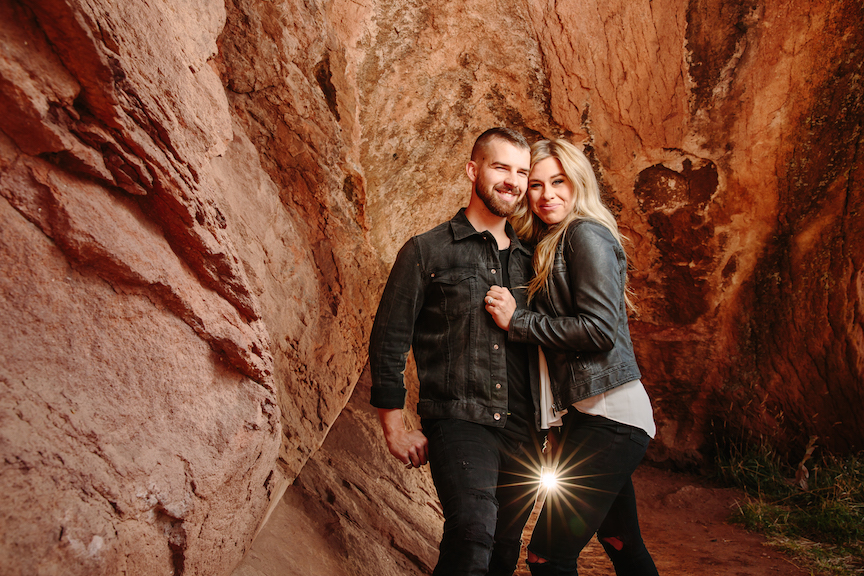 Engagement Photos with Hot Spots
