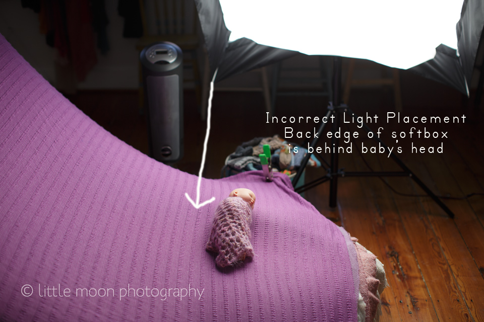 badlightingsoftboxplacement Newborn Lighting Dos and Donts