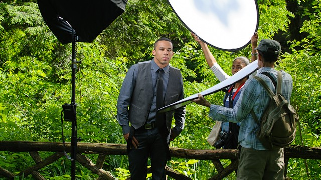 Shooting Outdoors: Headshots in the park