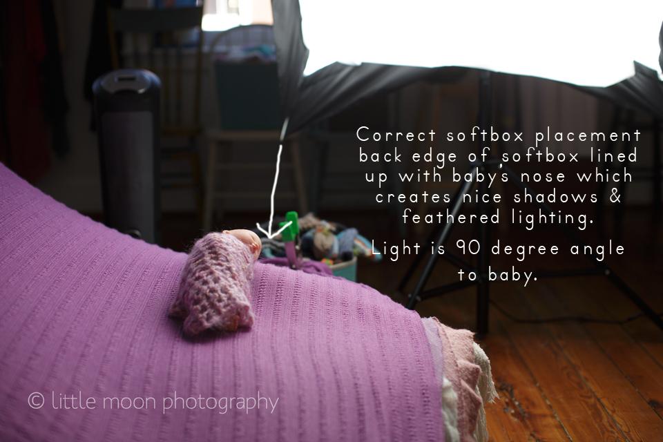 correctnewbornlightingsoftbox Newborn Lighting Dos and Donts