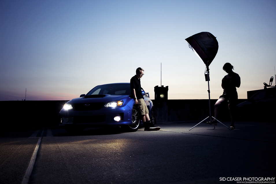 grantsetupcar Shooting a Nighttime Portrait with a Softbox