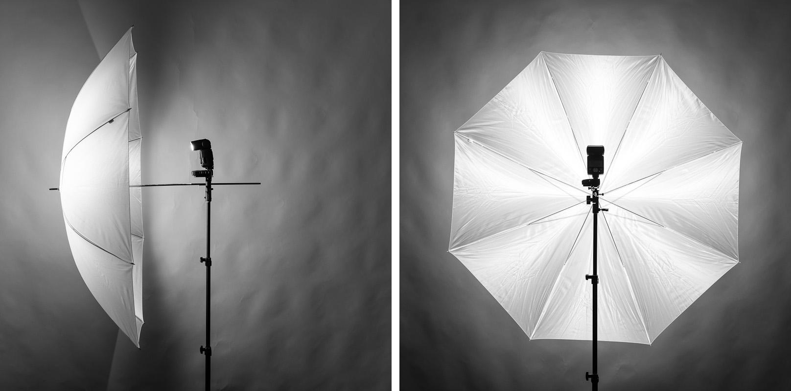 Simple Modifiers - Large vs. Small Photographic Umbrellas for Umbrella Photography Lights  34eri