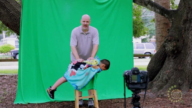 Creative Childrens Portraits with Green Screen