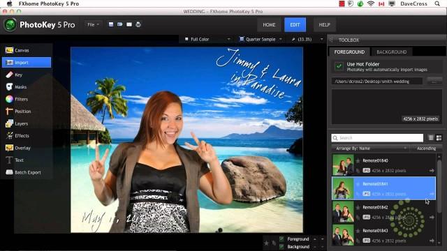 Photo Booth Wedding Portraits using Green Screen