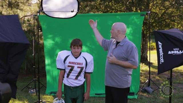 Sports Portraits with Green Screen