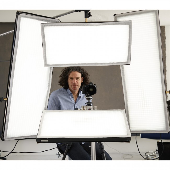 Peter Hurley Photographer with Flex LED mats