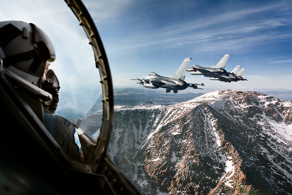 F-16 fighter pilots