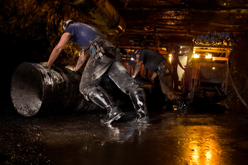 Timberland. Coal Mining shoot in the Oxbow Mine in Somerset, CO