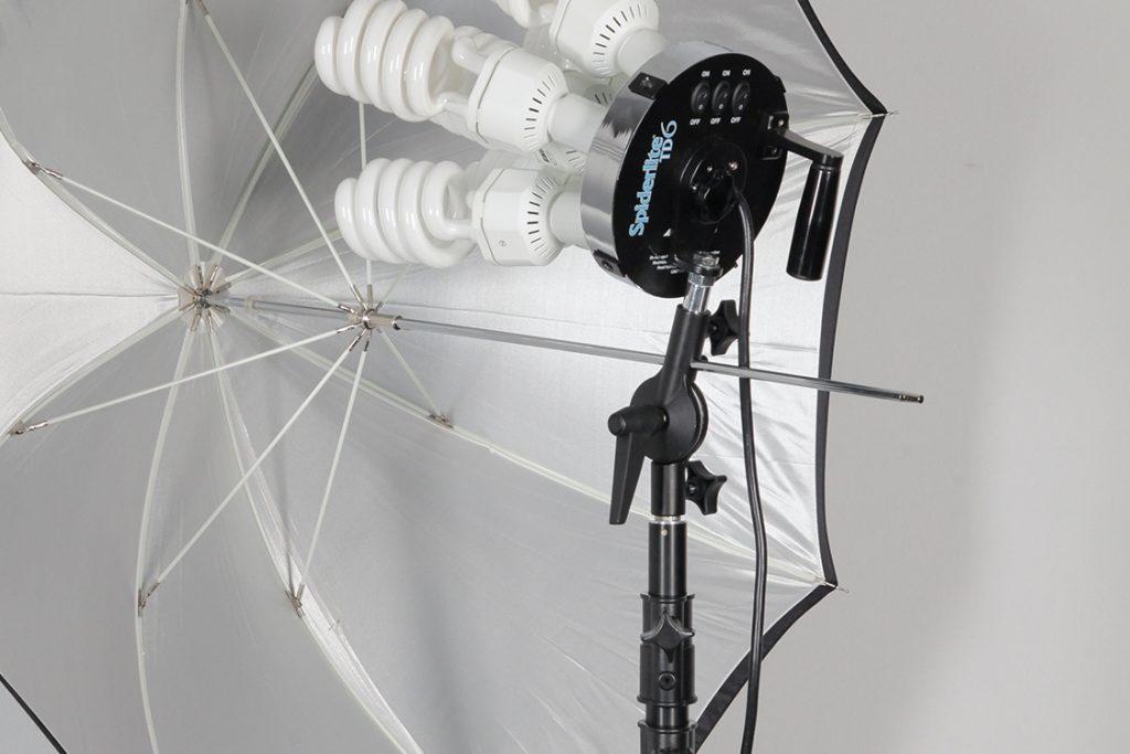 Umbrella Receptacle on a Tilter Bracket Mounted on a Spiderlite